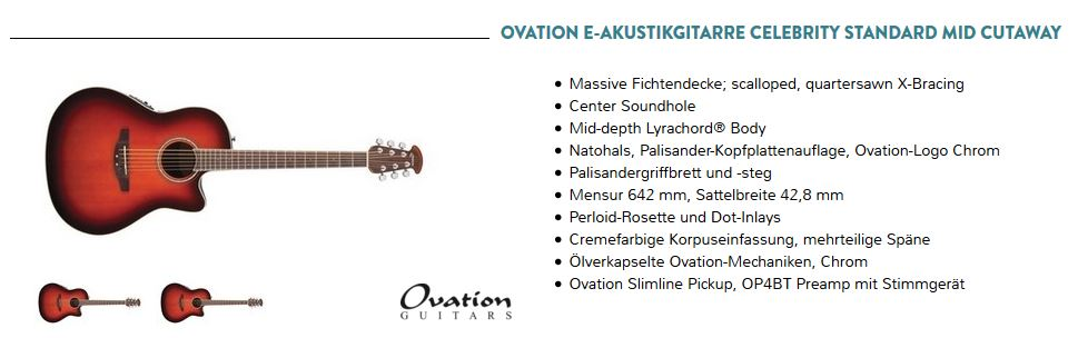 werbung 2016 ovation ii musik zentrum freund. Black Bedroom Furniture Sets. Home Design Ideas
