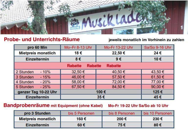 Werbung-Band-Proberäume-Mietpreise